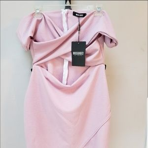 MissGuided cutout dress off shoulder fitted M L